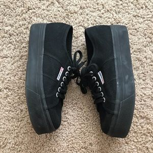 Superga 2790 Platform Sneaker Solid Black